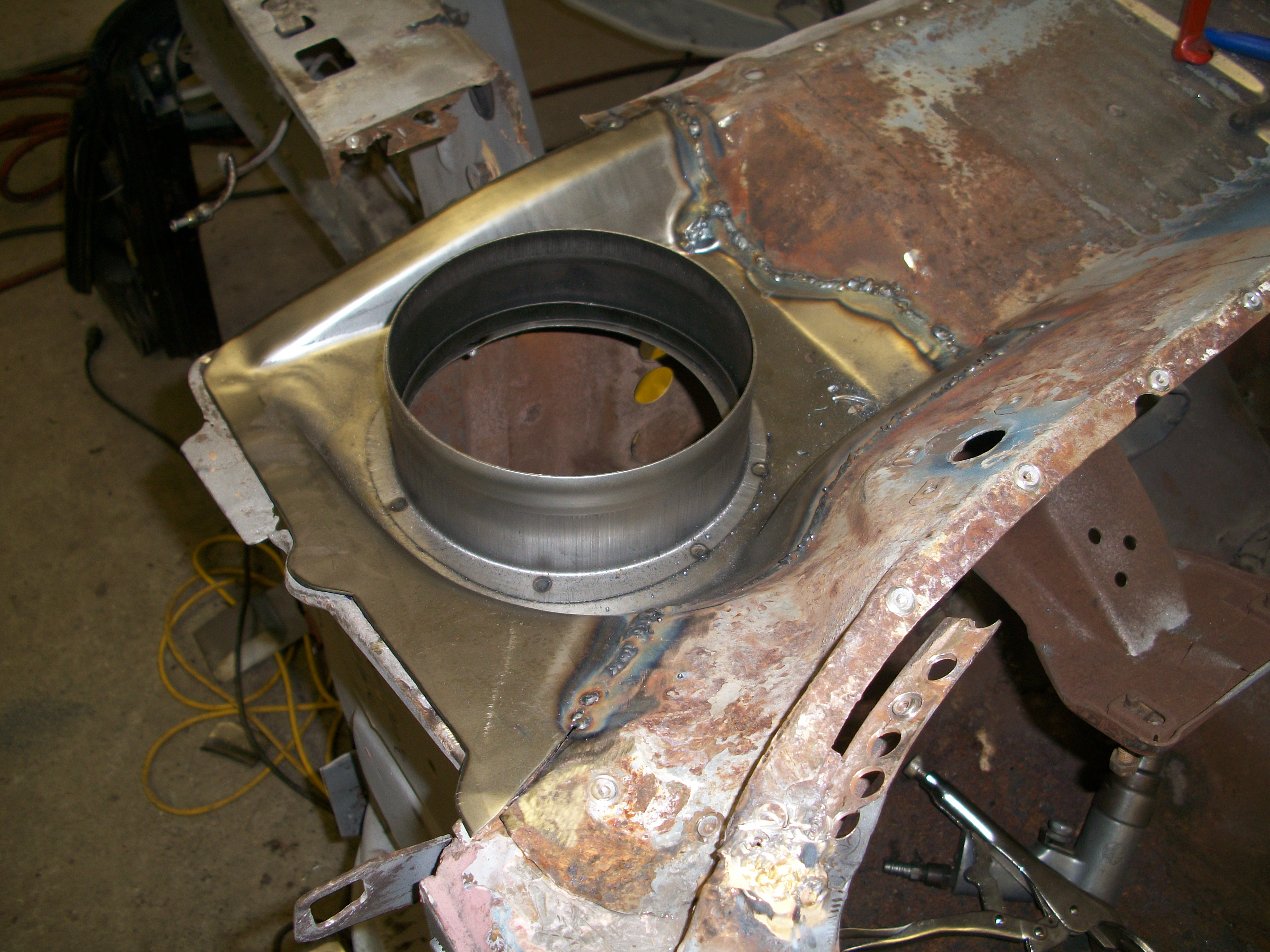 Completed repair of mustang cowl maine
