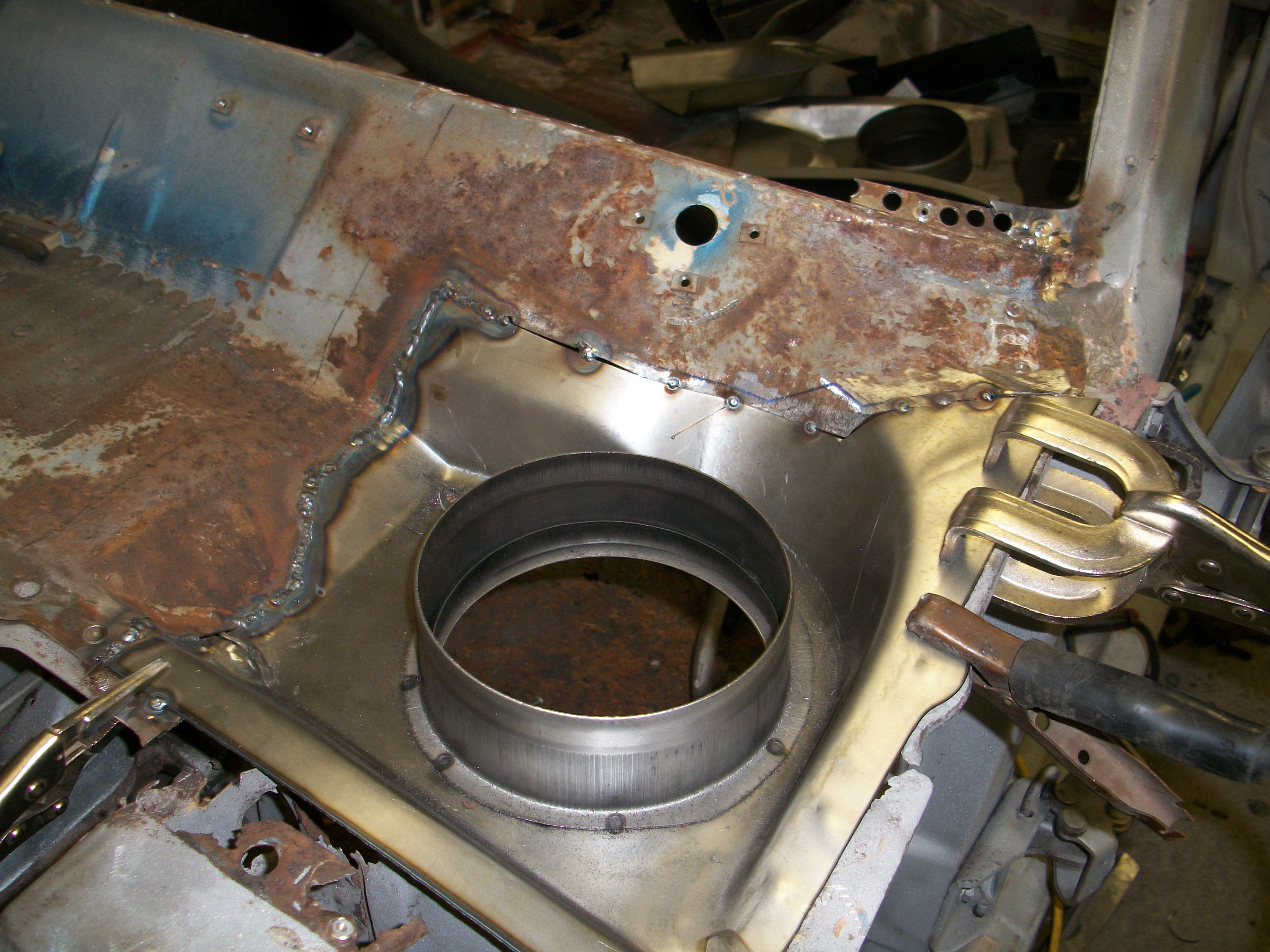 Cowl Patch Tack Into Place Maine Mustang