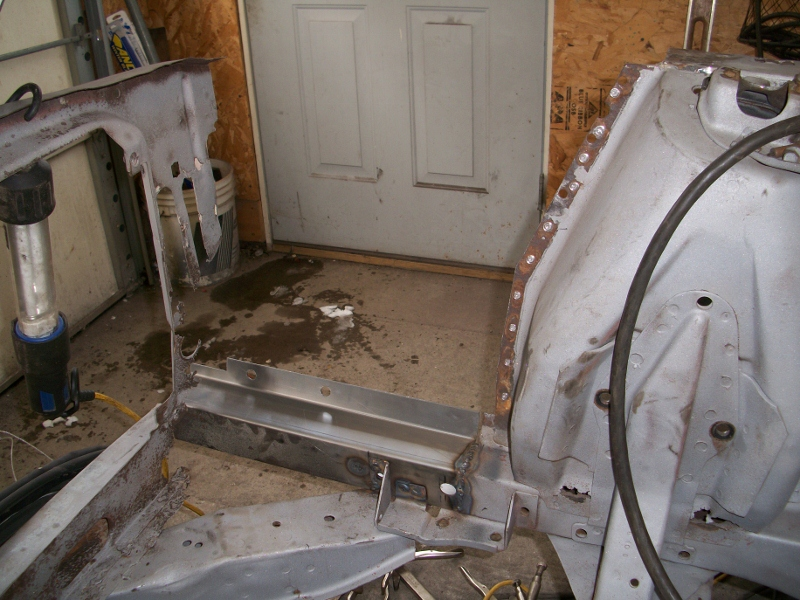 picture rust repair of the 67 mustang frame | Maine Mustang