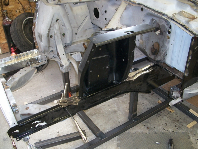Classic Car Restoration Of A 1967 Mustang Left Front Frame